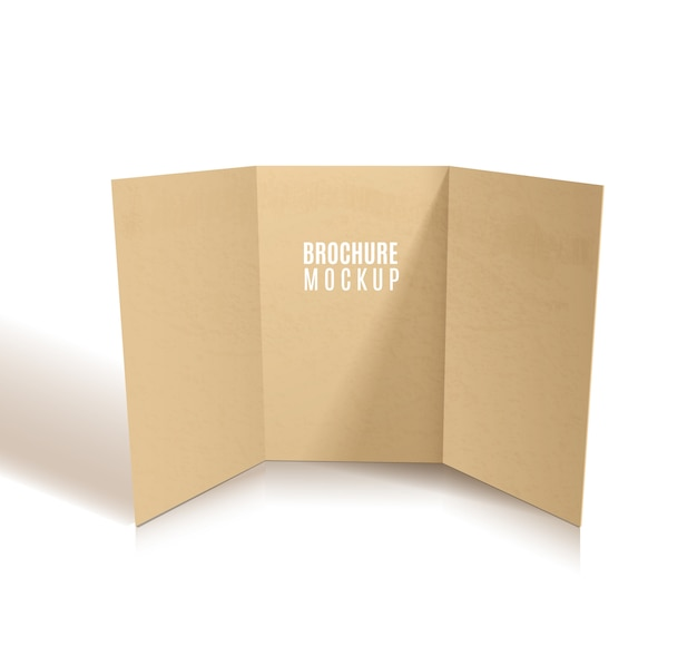 Kraft black brochure design isolado