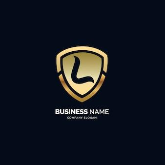 L logotipo de vetor de luxo