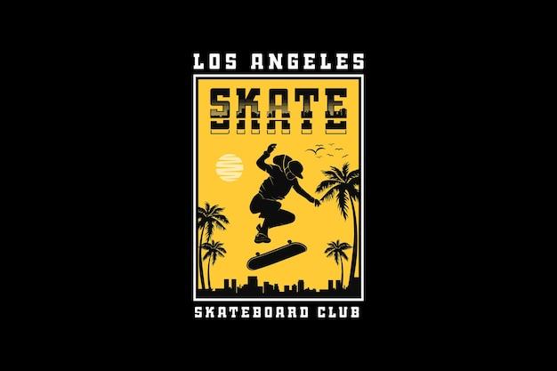 .l's angels skate, design silhueta estilo urbano