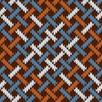 Lã tricotada sem costura sem fim