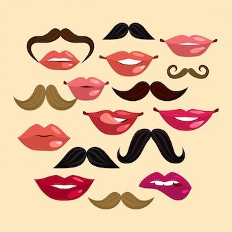 Lábios e bigodes