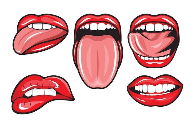 Lábios vermelhos