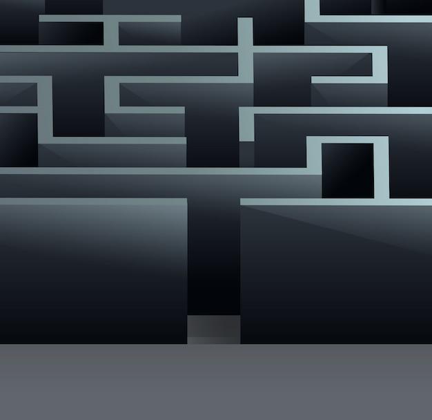 Labirinto 3d quadrado