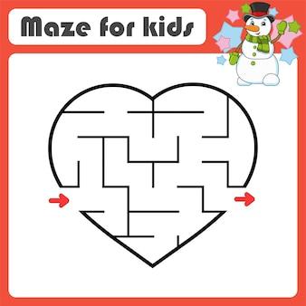 Labirinto abstrato. jogo para crianças. quebra-cabeça para crianças. estilo de desenho animado. enigma do labirinto.