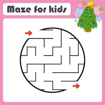 Labirinto abstrato. jogo para crianças. quebra-cabeça para crianças. estilo de desenho animado.