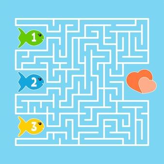 Labirinto abstrato. jogo para crianças. quebra-cabeça para crianças. estilo dos desenhos animados.
