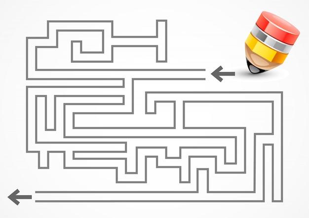 Labirinto com lápis