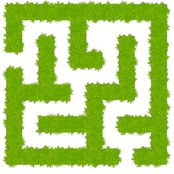 Labirinto de arbusto lógico para crianças