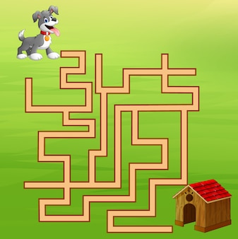 Labirinto de cachorro de jogo ache o modo à casa