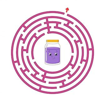 Labirinto de círculo engraçado.