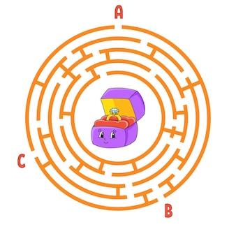 Labirinto de círculo.