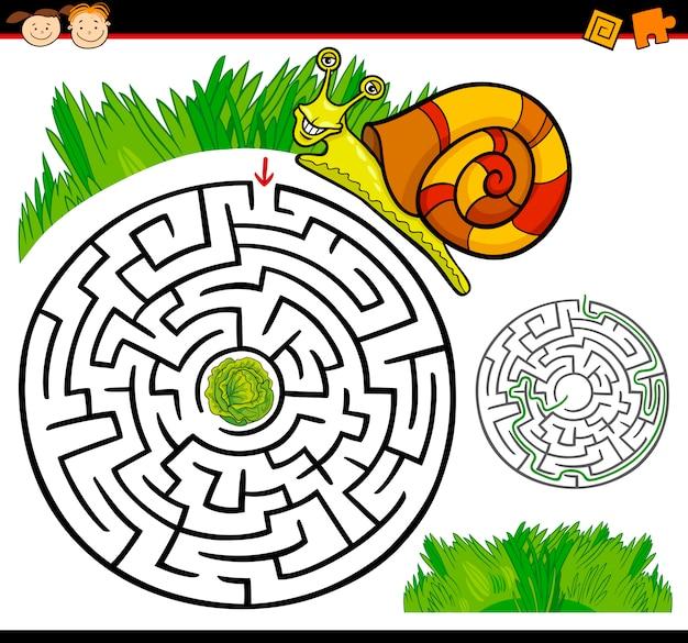 Labirinto de desenhos animados ou jogo de labirinto