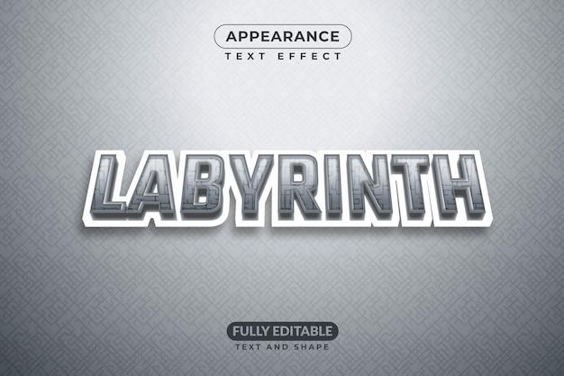 Labirinto de efeitos de texto