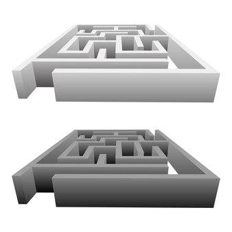 Labirinto design ilustração isolado