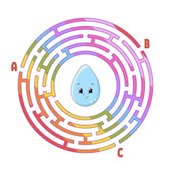 Labirinto do círculo. jogo para crianças. quebra-cabeça para crianças.