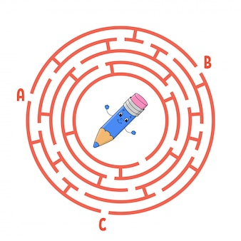 Labirinto do círculo. jogo para crianças.