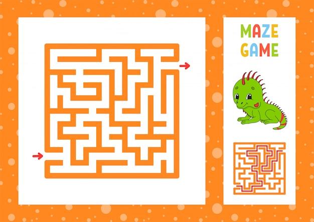 Labirinto engraçado, jogo para crianças.