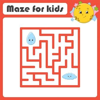 Labirinto engraçado. jogo para crianças.
