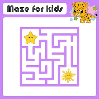 Labirinto engraçado, jogo para crianças,