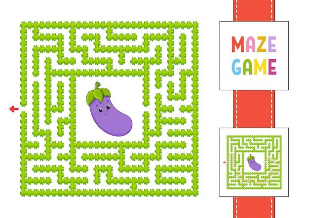 Labirinto fácil de mão desenhada