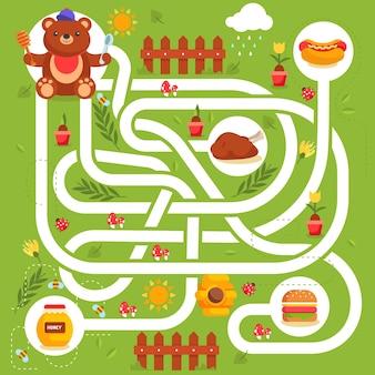 Labirinto fofo para crianças