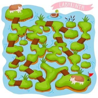 Labirinto, jogo de lógica para crianças