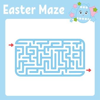Labirinto. jogo para crianças. labirinto engraçado. página de atividade. quebra-cabeça para crianças.