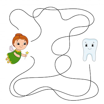 Labirinto. jogo para crianças. labirinto engraçado. planilha de desenvolvimento de educação. página de atividade.