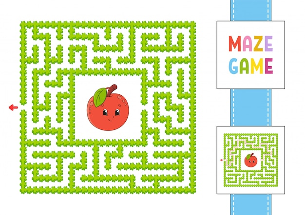 Labirinto. jogo para crianças. labirinto engraçado. planilha de desenvolvimento de educação.