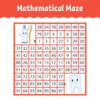 Labirinto matemático.