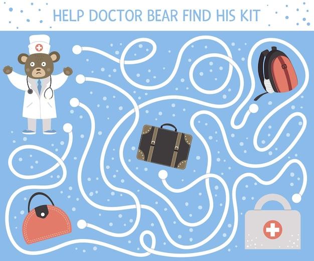 Labirinto médico para crianças