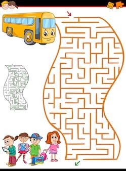 Labirinto ou labirinto para crianças Vetor Premium