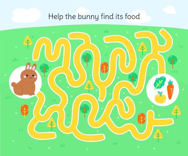 Labirinto para crianças do jardim de infância