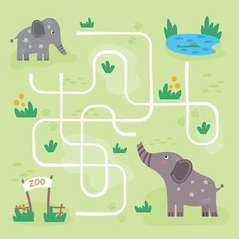 Labirinto para crianças