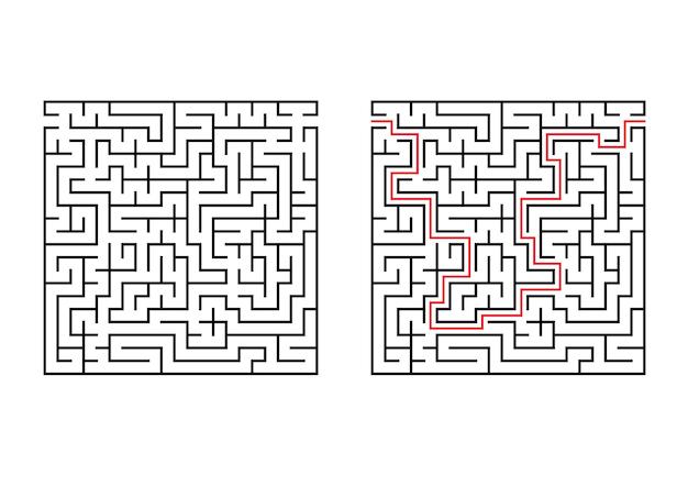 Labirinto quadrado abstrato.