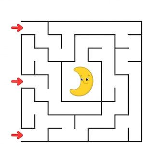 Labirinto quadrado engraçado.