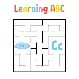 Labirinto quadrado. jogo para crianças.