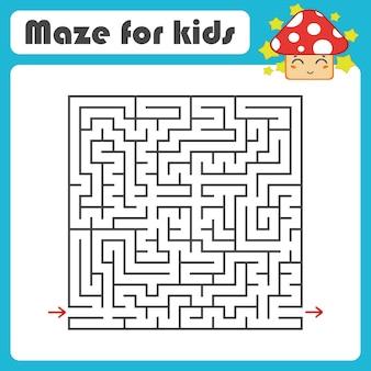 Labirinto quadrado preto