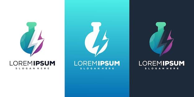 Laboratório com modelo de logotipo moderno de energia