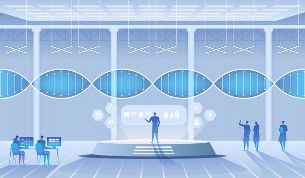 Laboratório de ciências. cientistas, homem e mulher, realizando pesquisas em al