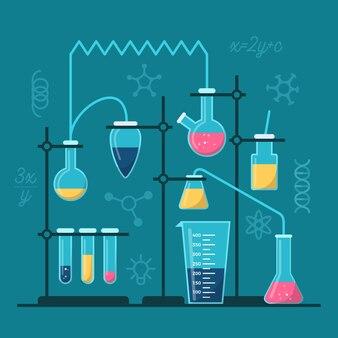 Laboratório de ciências com itens essenciais
