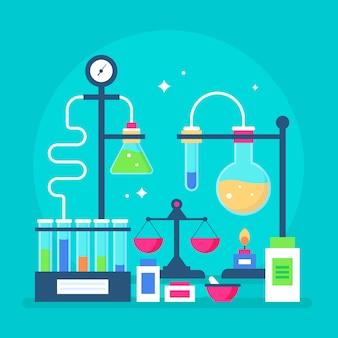 Laboratório de ciências com tubos