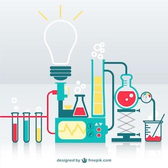 Laboratório de ciências vetor