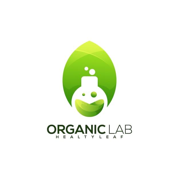 Laboratório de garrafas logotipo colorido abstrato