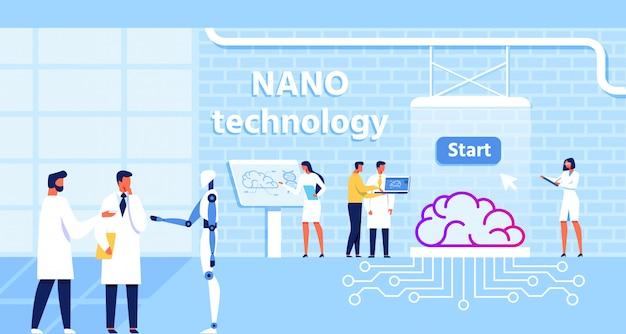 Laboratório de nanotecnologia e função cerebral de melhoria