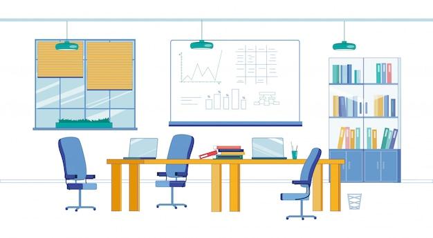 Laboratório de negócios, comércio e finanças da faculdade moderna
