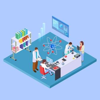 Laboratório de pesquisa científica.