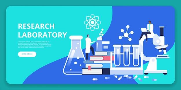 Laboratório de pesquisas. cientista trabalhando no laboratório. homem e mulher conduzindo pesquisas em um laboratório.