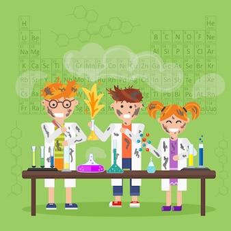Laboratório de química, conceito de educação