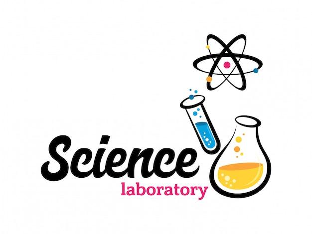 Laboratório de vetor, químico, logotipo de exame médico